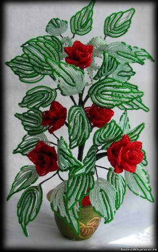 Цветок азалия из бисера мастер класс с пошаговым фото